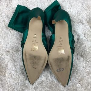 RAYE Shoes - RAYE Satin Rhinestone Buckle Bette Sock Boot